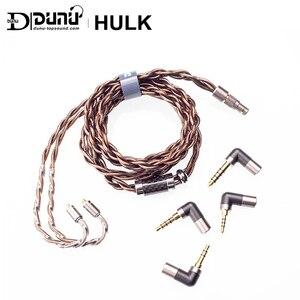 Image 2 - Dunuハルクアップグレードケーブルハイファイオーディオイヤホンime取り外し可能なmmcx 2ピン0.78ミリメートル/qdcプラグと4コネクタ3.5/2.5/3。5pro/4.4ミリメートル