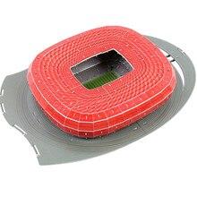 Clássico Modelos 3D Jigsaw Puzzle Alemanha Munich Football Jogo Estádios DIY Iluminar Tijolo Brinquedos Escala Define Papel Competição