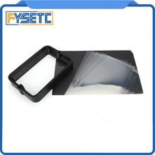 Материал стойки черный 178*120 мм с 5 шт. FEP пленка для 3d принтер для DLP Wanhao D7 3D-принтеры профиль Анодированной алюминиевой Смола НДС Сталь кольцо