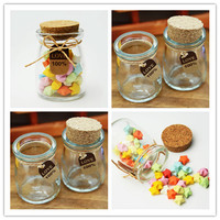 Hot Fashion 63 74mm 80ml Small Cute Mini Wishing Cork Stopper Glass Bottles Vials Jars Containers