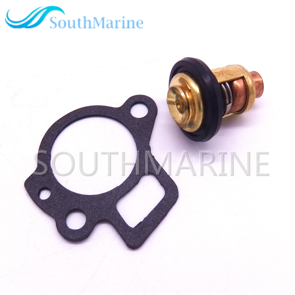 Boat Engine Thermostat 825212 825212001 855676003 855676A1 And Gasket 824853 For Mercury 8HP - 40HP 4-Stroke Outboard Motor