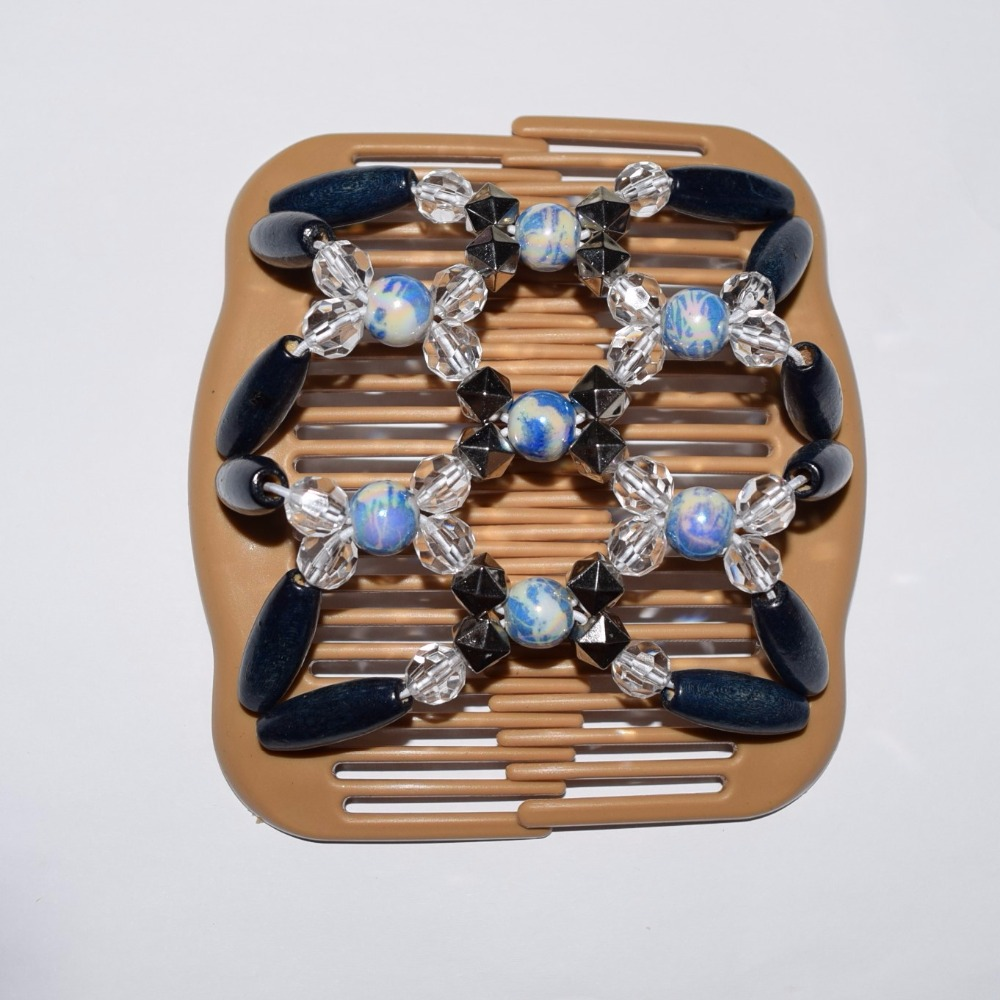 standard comb blue clear silver beads 20pcs/lot african butterfly magic comb ...