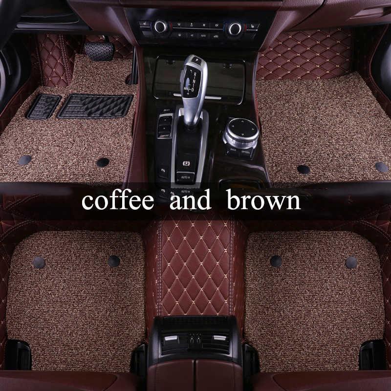 Kalaisike Personnalisé tapis de sol de voiture pour Volvo Tous Les Modèles s60 v40 xc70 v50 xc60 v60 v70 s80 xc90 v50 c30 s40 voiture accessoires coiffure