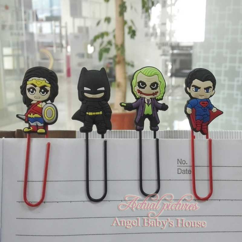 Captivating 4pcs Super Hero Batman Vs Superman Cartoon Bookmark Holder Paper Clip Book  Marks Office Supplies Stationery Bookmark Book Holder In Bookmark From  Office ...
