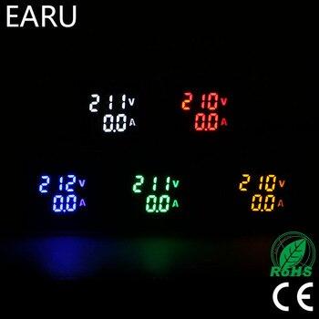 ミニデジタル電圧計電流計 22 ミリメートル Ac 20-500 ボルト 0-100A アンプボルト電圧テスターメーターデュアル LED インジケータパイロットランプライト