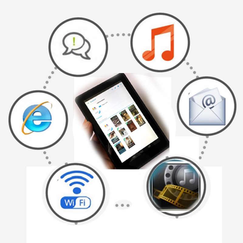 Momomo 電子ブックリーダースマート android のワイヤレス WiFi デジタルプレーヤー & 7 インチのタッチスクリーン電子書籍 4000MHA 大バッテリー