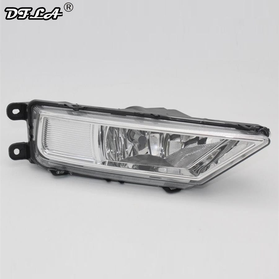 Rigt Side Car Light For VolksWagen VW Tiguan 5N 2016 2017 2015 Car-Styling Front Bumper Halogen Fog Light Fog Lamp With Bulb right side for vw polo vento derby 2014 2015 2016 2017 front halogen fog light fog lamp assembly two holes