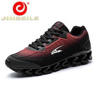 JINBEILE High Quality Men Sport Shoes Blade Warrior Design Men Running Shoes Spring Autumn Outdoor Sneakers