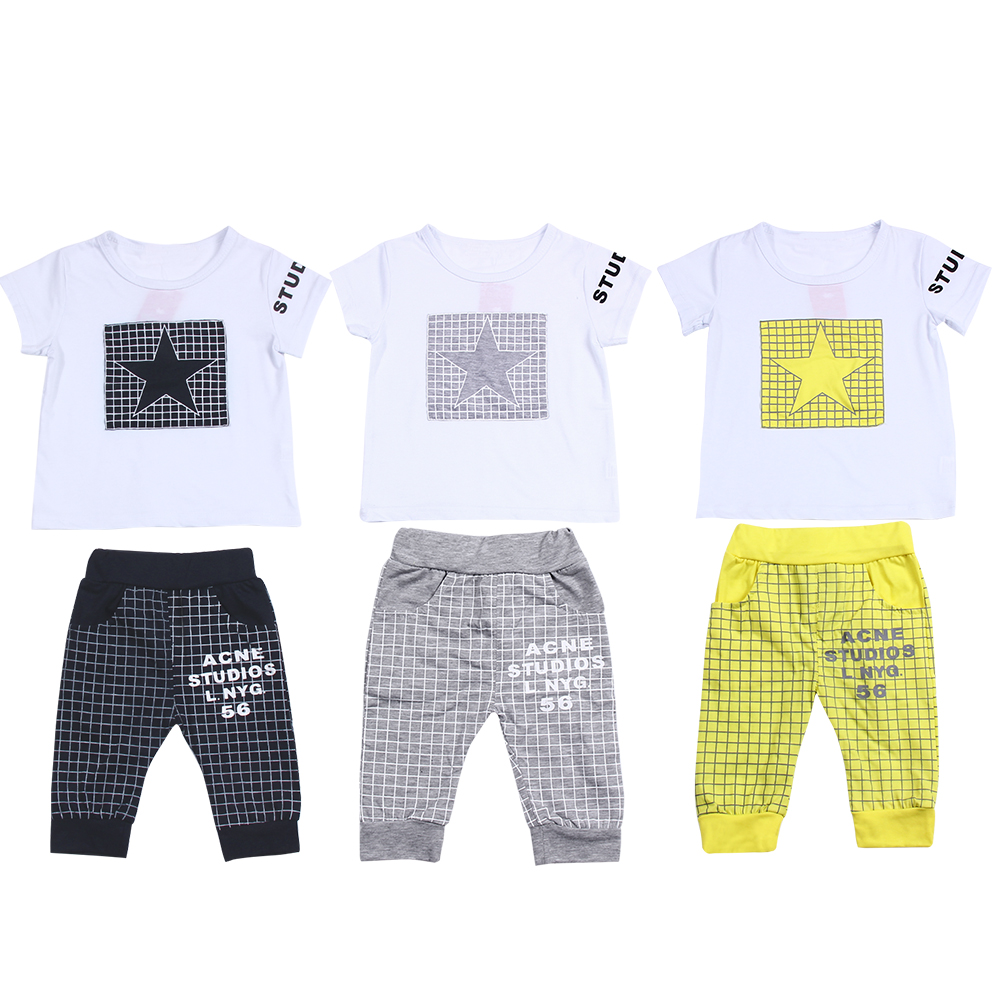 Toddler Children Clothes Summer Baby Boys Clothing Sets Sports Clothes Suits Kids Summer Shirt Child Casual Shirt + Pants Set