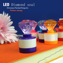 6pcs Diamond head luminous Stamp children diy Handmade Stamp Scrapbook Photo Album Diary Decora teacher seal
