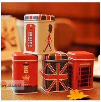 1 PC storganizer London estilo caixa de lata Pequena De Armazenamento bens domésticos Titulares Papelaria recipiente (ss-5683)
