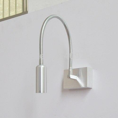 Wall Desk Lamp: 2016 Modren 3w LED Flexible Tube Light Wall Lamp Aluminium Pipe Bedside  Background Mirror Desk Reading,Lighting