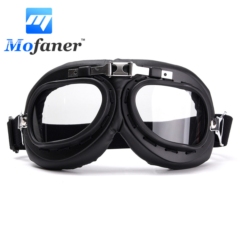 Windproof Motorcycle Bike Flying Goggle Glasses Anti-UV Motorbike Helmet Glasses For Harley Cafe Racer Protector