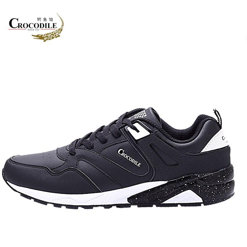 Крокодил оригинальный Для мужчин Спортивное тапки мужские кожаные обувь кроссовки для Для мужчин плоской подошве спортивная обувь для про...
