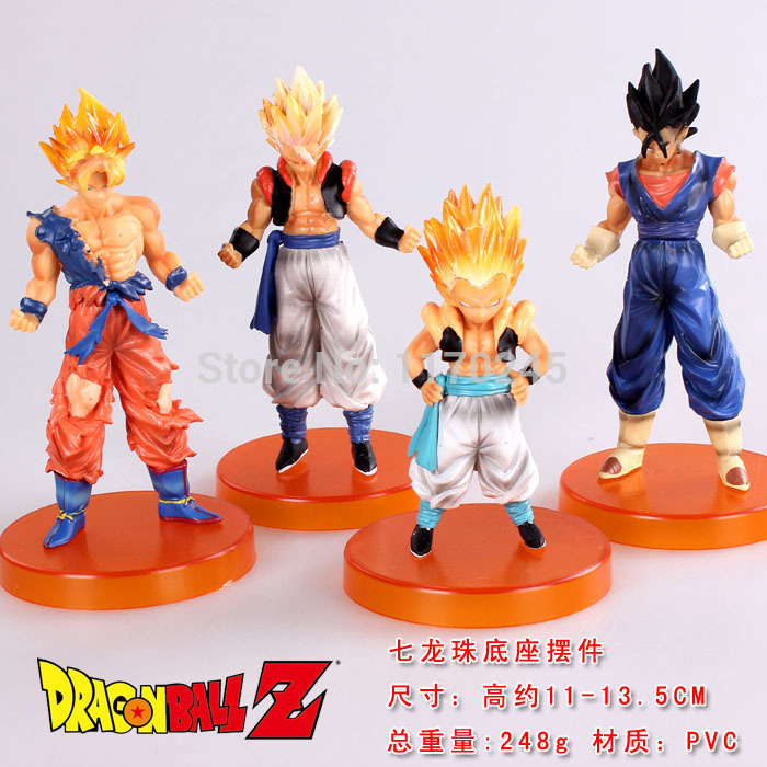 Free shipping Anime Cartoon Dragon Ball Z Songukou Gogeta Gotenks 4pcs/set PVC Action Figure Collection Model classic Toy free shipping anime dragon ball master roshi pvc action figure collection model toy 25cm orange new loose