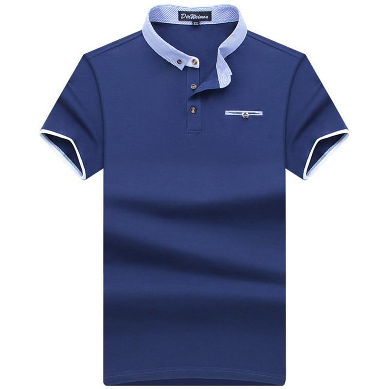 2018 년 남성 브랜드 폴로 남성용 폴로 셔츠 남성용 반팔 인과 셔츠 클래식 스타일