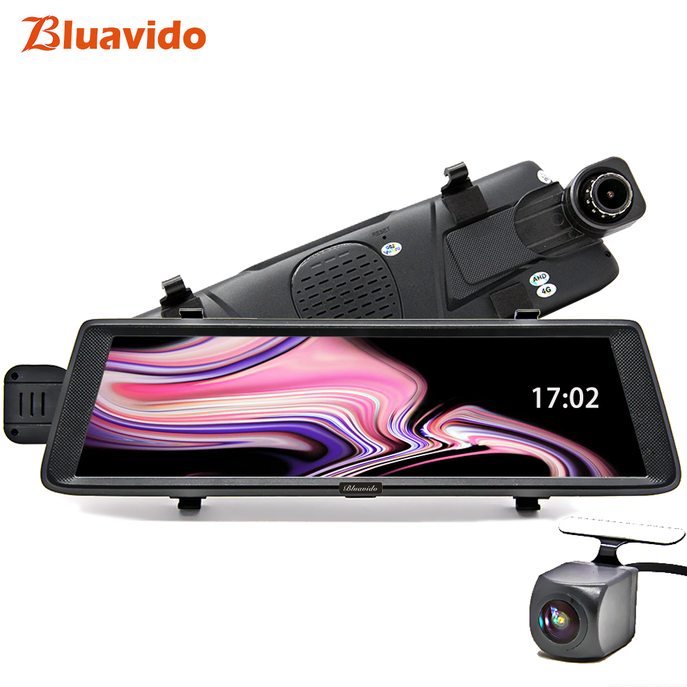 Bluavido 10 4g Android de voiture miroir enregistreur vidéo GPS navigation ADAS Full HD 1080 p dash cam arrière vue caméra dvr WiFi Bluetooth
