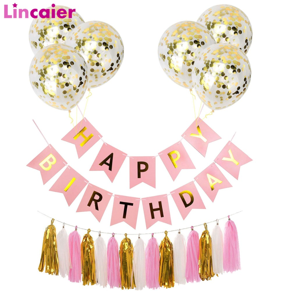 Online Shop Lincaier Paper Happy Birthday Banner Party Decorations Kids Unicorn Garland Children Baby Boy Girl Child Bunting Adult Supplies | Aliexpress Mobile