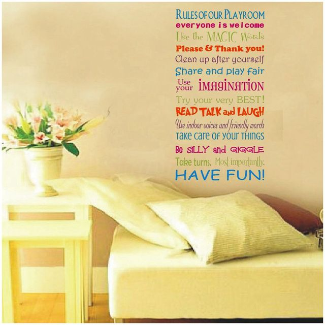 Removable playroom pvc wall sticker family window room mural decorcolor