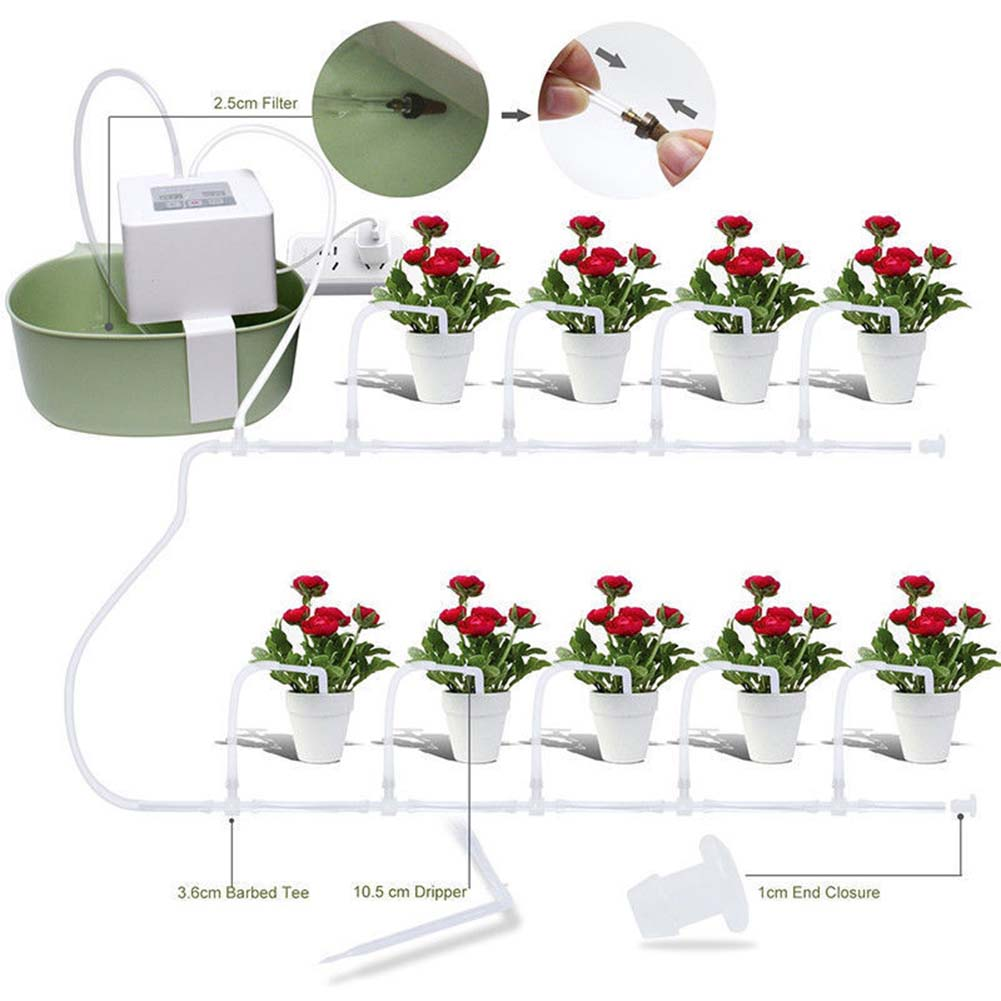 Us 33 31 33 Off Diy Automatic Drip Irrigation Kit Usb Battery Powered Indoor Pot Plants Self Watering System Fp8 In Water Cans From Home Garden On