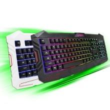 ОСТЬ СВЕТОДИОДНАЯ Подсветка Pro Gaming Keyboard USB Проводная Переключатель Полный Teclados Gamer Для LOL Компьютерная Периферия