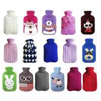 Knit Protective Cover for 2 Liter Large Hot Water Bottle Pvc Hot Water Bags Anti-scalding Cover Warming Hands 16 Colors