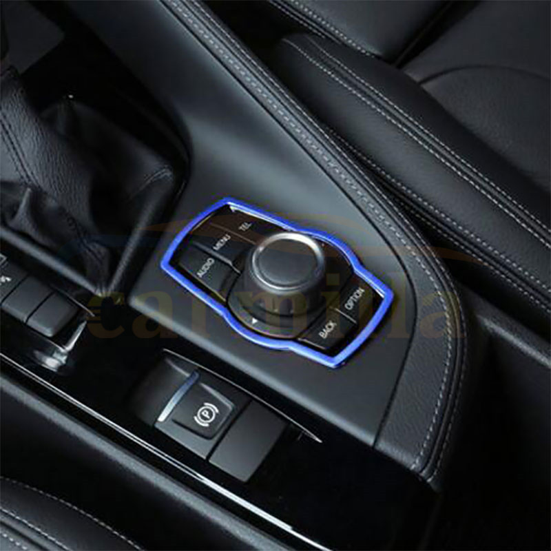 1Piece Interior Refit Multimedia Buttons Cover Trim Sticker Car <font><b>Accessories</b></font> for <font><b>BMW</b></font> X1 X3 X5 X6 F20 <font><b>F01</b></font> F30 F15 image