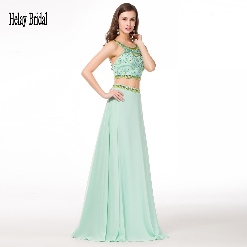 Sexy Backless Mint Green Prom Dress With Jewels Abendkleider 2016 ...