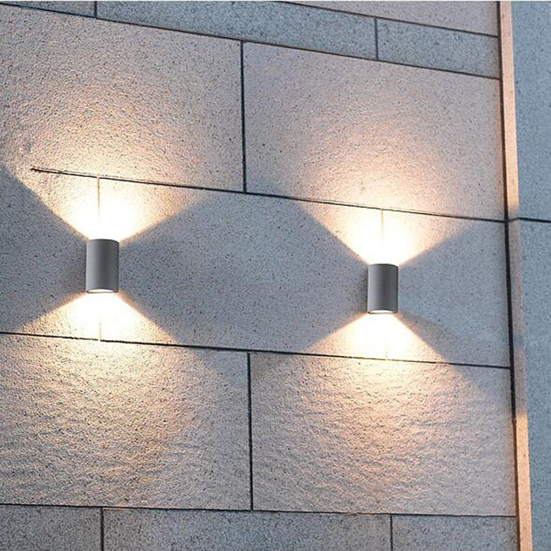 Cob led 2 5w 10w waterproof indoor outdoor wall lamp up for Exterior up and down lights led