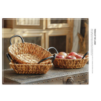Creative Storage Basket Wicker Ornament Storage Rack Sundries Storage Baskets Desktop Art Decor Home Decoation Accessories Gifts