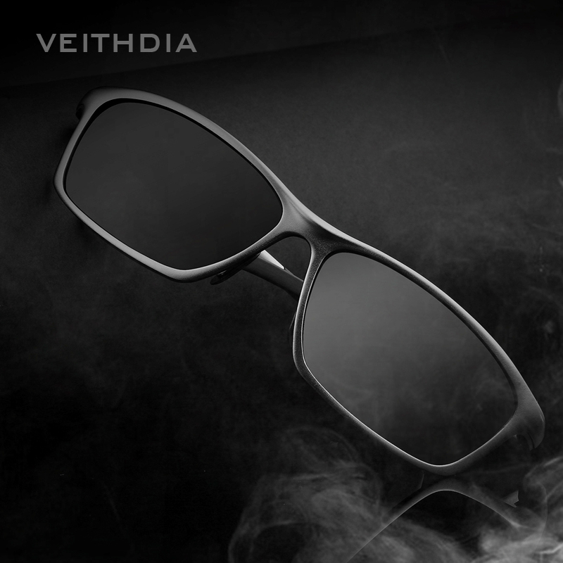 VEITHDIA Square Aluminum Polarized Sunglasses Men Sunglass Eyewear Accessories Men Driving Glasses Blue Sun Glasses Shades 6520
