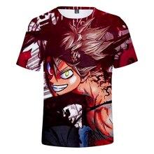 Japanese Anime Black Clover t shirt  Men/Women Summer Short sleeve Leisure Mens 3D Print Streetwear 4XL