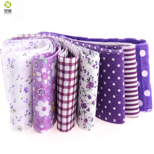 100%cotton New arrivals 7pcs/lot jelly roll sewing textile Purple sets fabric strips 5cmx100cm tildas quilting doll's cloths