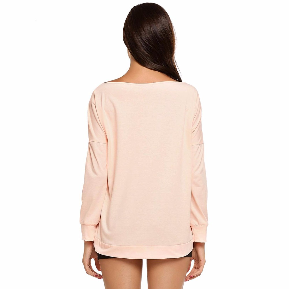 51391cc2a0b49 HALIFE T Shirt Women Drop Long Sleeve One Shoulder Loose Basic Leisure  Autumn tee shirt femme Tshirts Tunic Tops Clothes 20ZYQ7 -in T-Shirts from  Women s ...