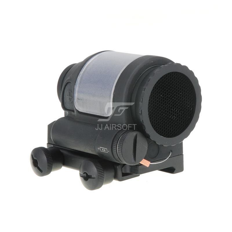 JJ Airsoft SRS Style 1x38 Red Dot with Killflash / Kill Flash (Solar cell assisted) (Black/Tan)