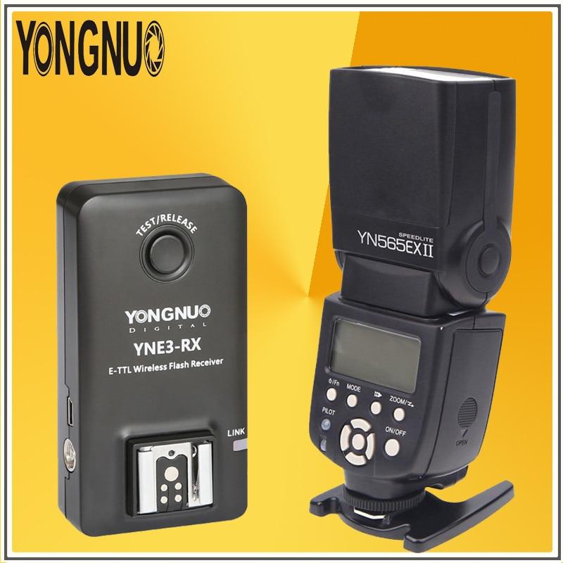 где купить YONGNUO YN565EX II Radio TTL Speedlite Flash Speedlight + YNE3-RX 2.4Ghz E-TTL Wireless Flash Receiver Trigger For Canon Cameras по лучшей цене