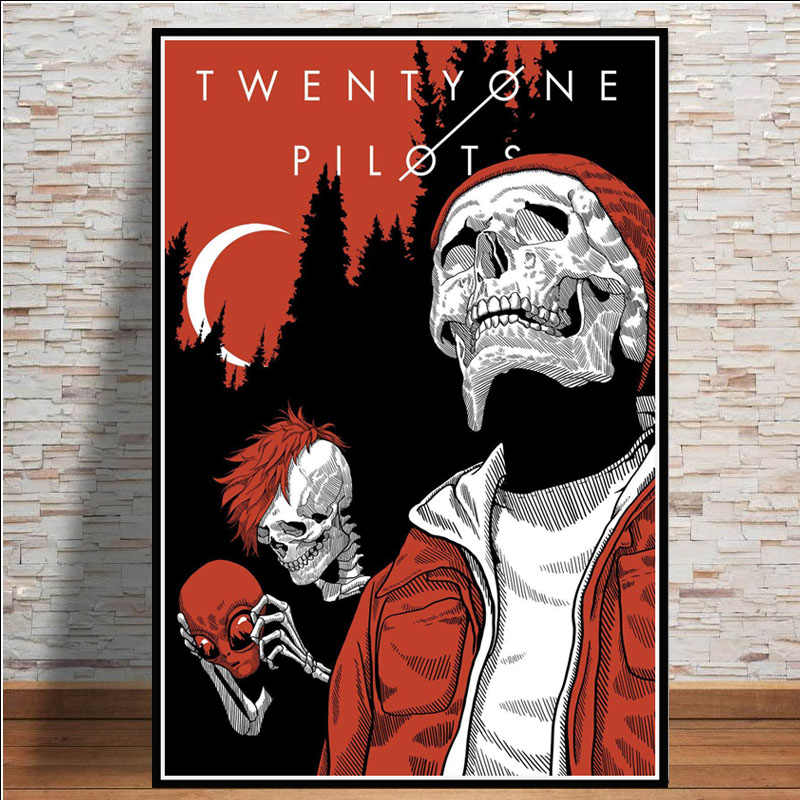 Hot Abstract Twenty One Pilots Rock Music Band Stars Poster Wall Art Modern Painting Wall Pictures For Living Room Home Decor