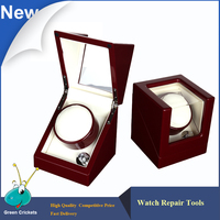 2016 Latest Red 1 0 Specular Paint Wooden Automatic Watch Winder Quiet Motor 5 Mode Mechanical