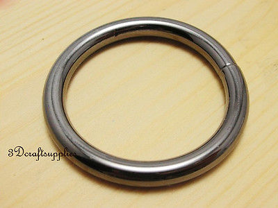 metal O rings O ring purse ring connector gunmetal 50 mm 2 ...