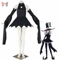 MMGG Halloween anime cosplay Black Star cosplay Soul Eater cosplay costume magic cat dress witch outfit
