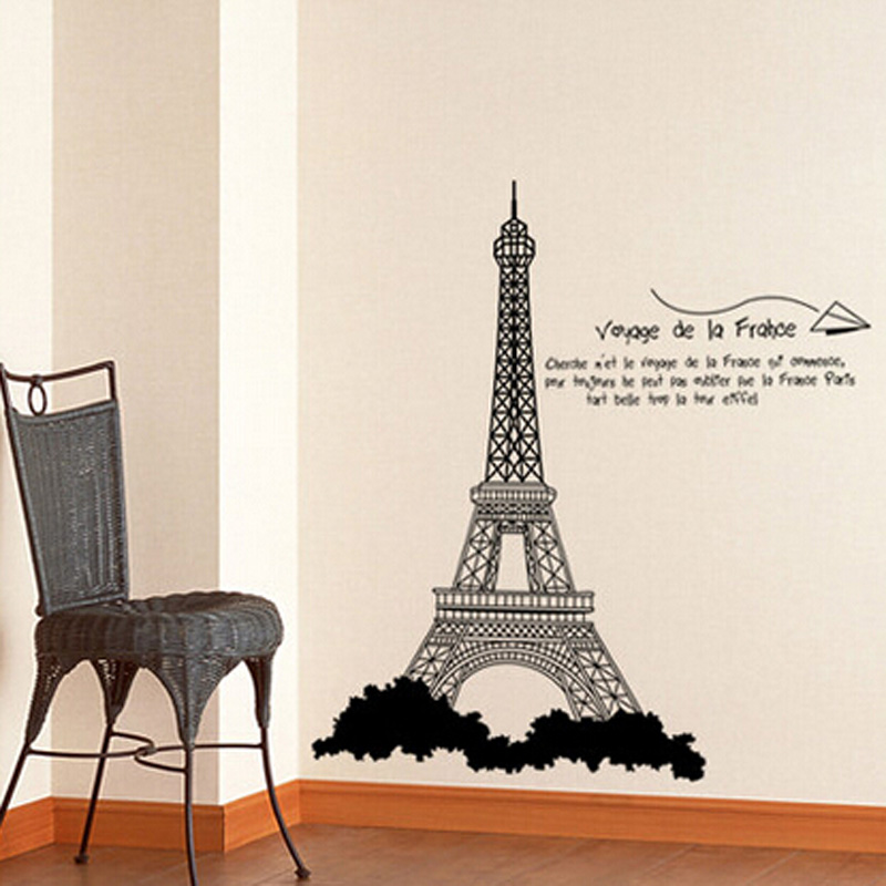 Aliexpress.com : Buy Voyage De La France Paris Eiffel Tower Wall Stickers  Mural Adesivo De Parede Window Wall Decorations From Reliable Wall Decor  Suppliers ... Part 95