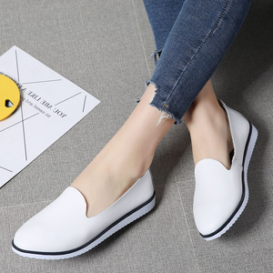 Image 5 - Genuine Leather  Womens Summer Ballet flats shoes  Ladies Breathable Canvas Mother Shoe Casual Sneaker loafers fashion Footwear