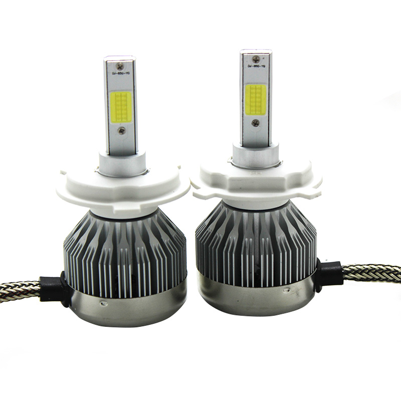 H4 H7 H13 H11 H1 9005 9006 COB LED Headlight 60W All In One Car LED Headlights Bulb Head Lamp Fog Light White 6000K Yellow 3000k 9005 hb3 9006 hb4 7 5w high power cob led bulb car auto light source projector drl fog headlight lamp white yellow