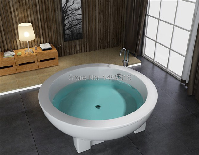 71\' Round Fiberglass With Resin Freestanding Seamless Joint Bathtub ...