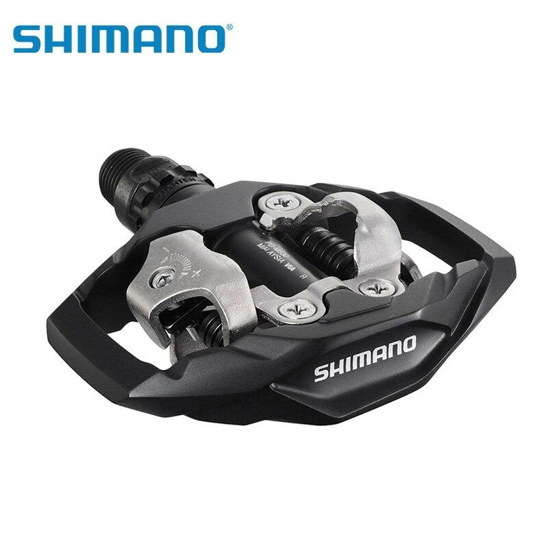 Shimano PD-M530 SPD auto-bloquant pédales Clipless avec crampons noir/blanc pour vélo de montagne bicicleta vtt