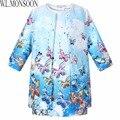 Девочки платье 2015 детская одежда девушки одежду Vestidos бабочка печатных дети платья для девочек ( платье + пальто )