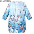 Baby Girls Dress 2015 Children Clothing Winter Girls Clothes Vestidos Butterfly Printed Kids Dresses for Girls (Dress+Coat)