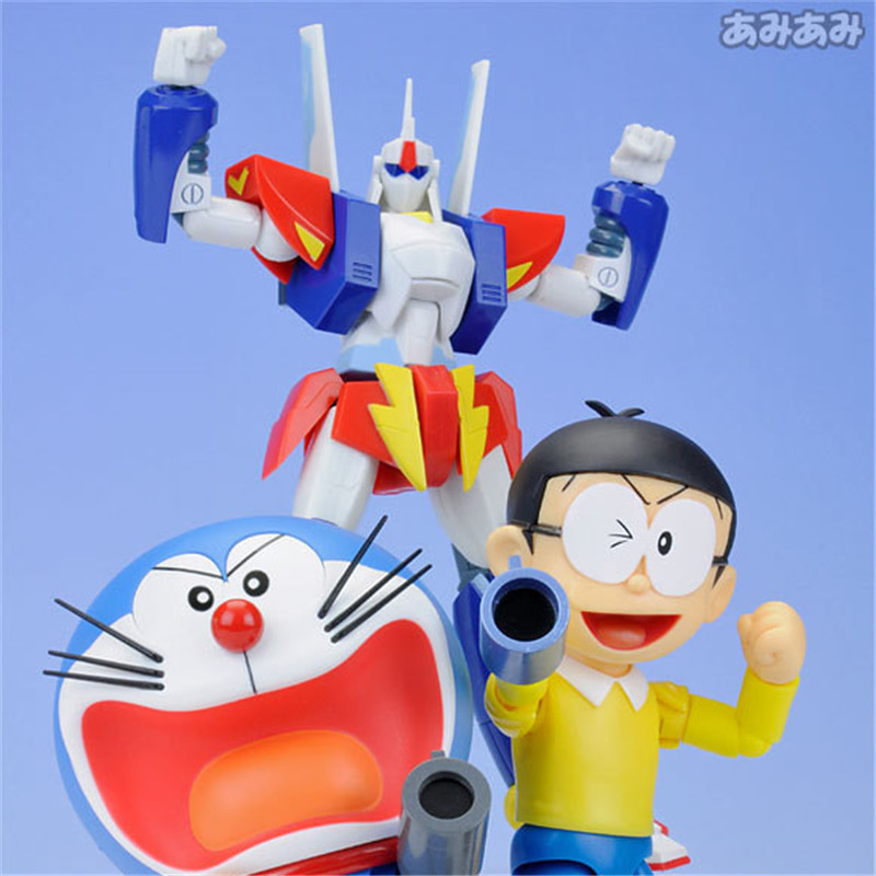Anime Cartoon Doraemon Nobita Nobi Face Eye Changeable The Robot Spirits Classic Toys Birthday Gift for Kids PVC Figure Toy 10CM 22inch reborn baby doll kits silicone vinyl head 3 4 arms and legs baby dolls lifelike doll accessories bonecas brinquedos
