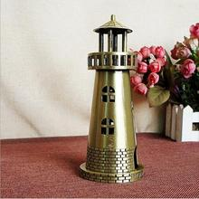Sea beacon lighthouse metal Decoration China famous landmark building model home furnishings photography props