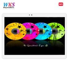 Новые 10 дюймов waywalkers M9 планшетный ПК Android 6.0 Octa core 4 ГБ Оперативная память 64 ГБ Встроенная память dual sim карты bluetooth gps Планшеты 1920*1200 IPS